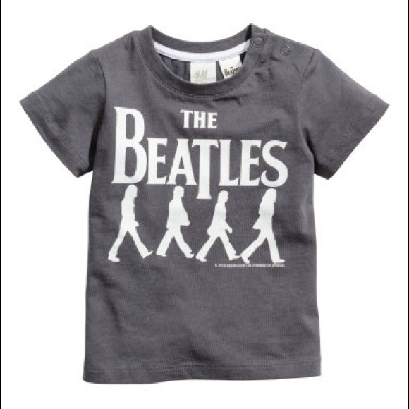 The Beatles Graphic Tee Grey Hm Baby Shirt Top Poshmark